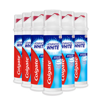 Colgate Advanced Whitening Toothpaste With Pump, 6 x 100ml