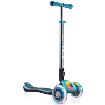 Globber Elite Titanium Flash and Lights Scooter in 2 Colours (3+ Years)