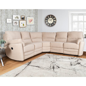Minster Fabric Power Recliner Corner Sofa in Rich Beige