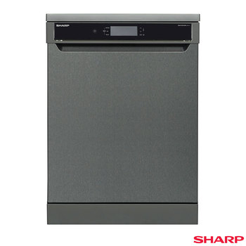 Sharp QW-HT43F393A, 15 Place Settings Dishwasher A++ in Anthracite