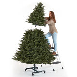 Grow And Stow Christmas Tree.Aspen 7ft 6 Inches 2 3m 9ft 2 7m Pre Lit 850 Led Dual Colour Artificial Grow And Stow Christmas Tree Costco Uk