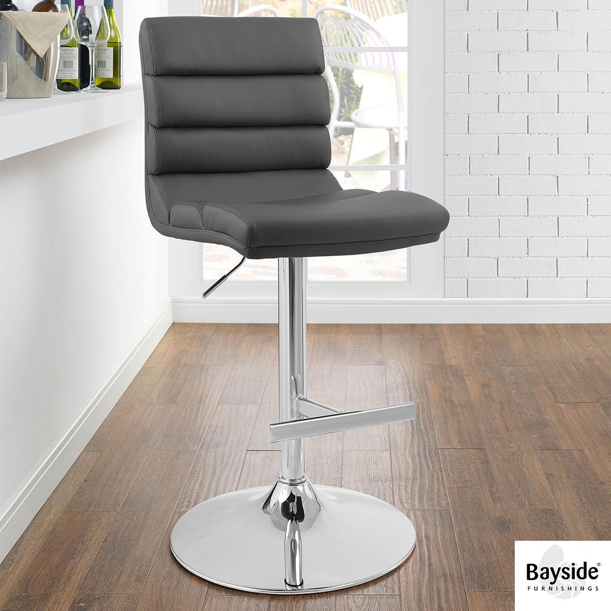 Bayside Furnishings Grey Bonded Leather Gas Lift Bar Stool Costco Uk