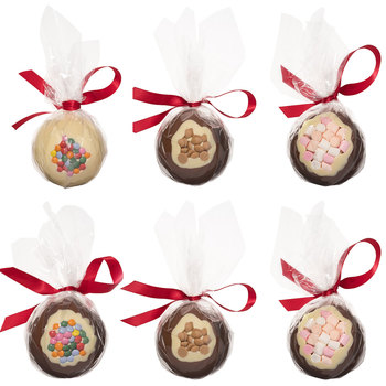 Cocoba Belgian Chocolate Christmas Baubles, 6 x 100g
