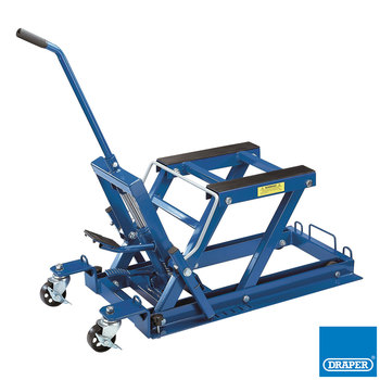 Draper Hydraulic Lift for Motorcycle/ATV/Small Machinery, 680kg Capacity