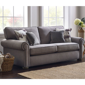 Henley Steel Grey Fabric 2 Seater Sofa