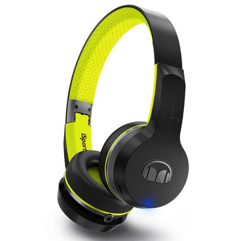 Monster iSport Freedom Bluetooth Wireless On Ear Headphones in Black and Yellow