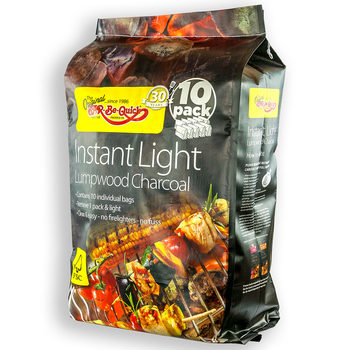 Bar-Be-Quick Instant Light Lumpwood Charcoal, 13.5kg (10 Pack)