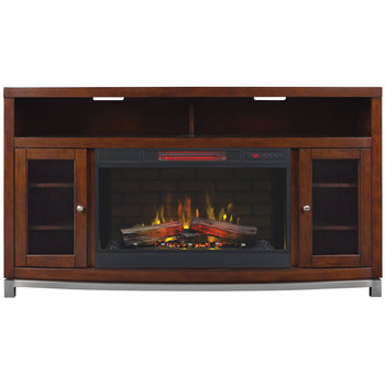 "Media Mantle With 32"" Electric Fireplace for TVs up to 70"""