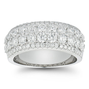 2.00ctw Round Brilliant Cut Diamond Ring, 18ct White Gold