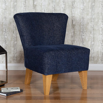 Lorna Navy Fabric Accent Chair