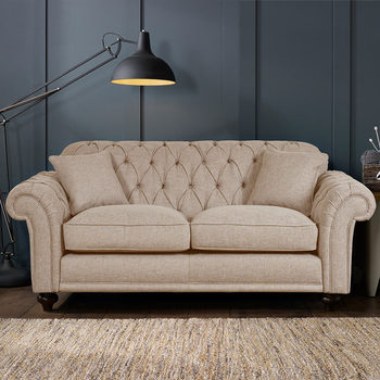 Bordeaux Button Back 2 Seater Fabric Sofa in 2 Colours