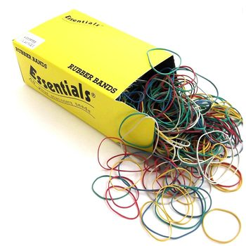 Essentials Assorted Size Rubber Bands - 4 x 454g Pack