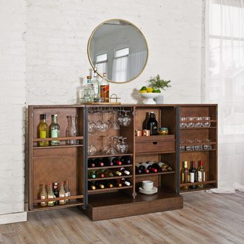 Pike & Main Amherst Chevron Accent Bar Console
