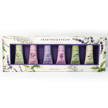 Crabtree & Evelyn Hand Cream Collection Gift Set, 6 x 25g