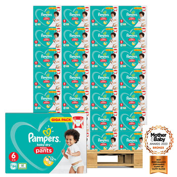 Pampers Baby-Dry Nappy Pants Size 6, 60 x 84 Giga Packs