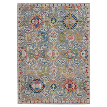 Ankara Grey Patterned Rug in 2 Sizes
