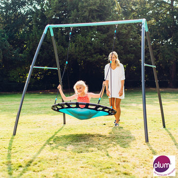 Plum Premium Metal Nest Swing with Mist (3+ years)
