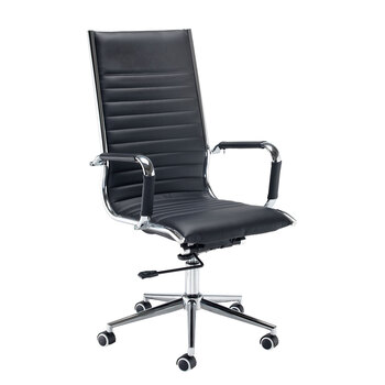Dams Bari Faced Leather Executive Chair in Black