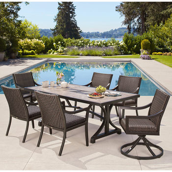 Agio South Dakota 7 Piece Woven Dining Set + Cover