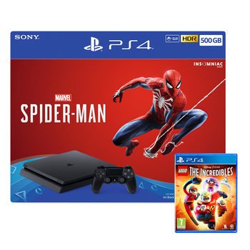PlayStation 4 500GB Console with Spider-Man and LEGO Incredibles