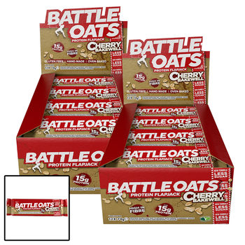 Battle Oats Cherry Bakewell Protein Flapjack Bars, 24 x 70g
