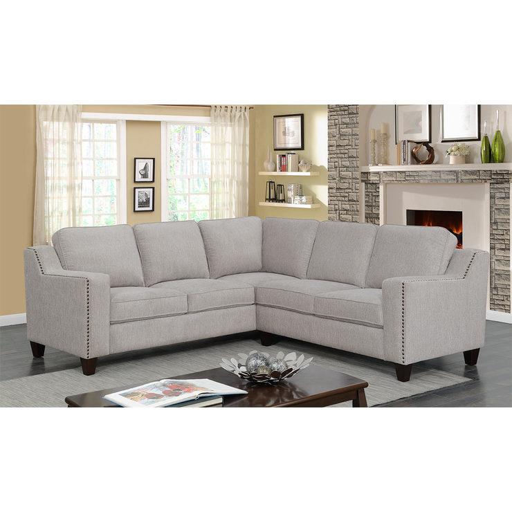 Mstar International Maddox Fabric Sectional Sofa | Costco UK