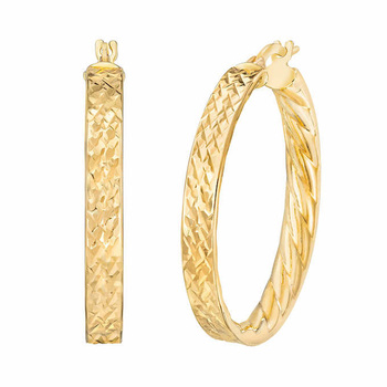 14ct Yellow Gold Hoop Earrings