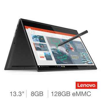 Lenovo Yoga C630, Qualcomm Snapdragon 850, 8GB RAM, 128GB eMMC, 13.3 Inch Convertible Laptop with Lenovo Pen, 81JL000PUK