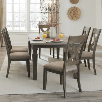 Universal Furniture Eileen Extending Dining Room Table + 6 Chairs