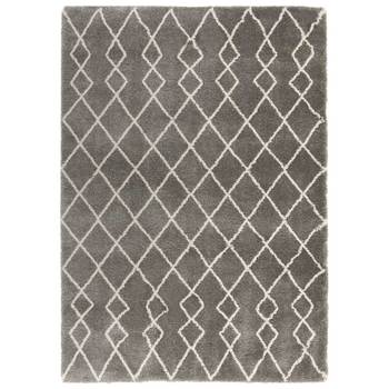 Martil Silver Moroccan Shag Rug in 2 Sizes