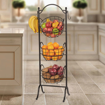 3-Tier Storage Basket with Stand