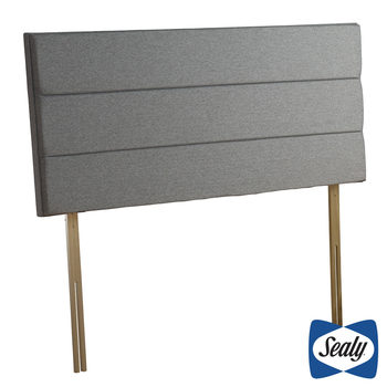 Sealy Kingston Pebble Grey Fabric Headboard in 4 Sizes