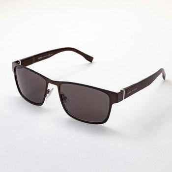 Hugo Boss Matte Brown Sunglasses with Brown Lenses, 0769/S QMSY1