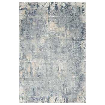 Rustic Textures Faded Blue Rug in 3 Sizes