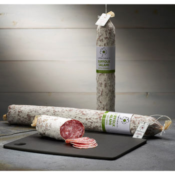 Suffolk Salami Co Suffolk Grown Salami with Fennel, 1kg (Serves 10-14 people)