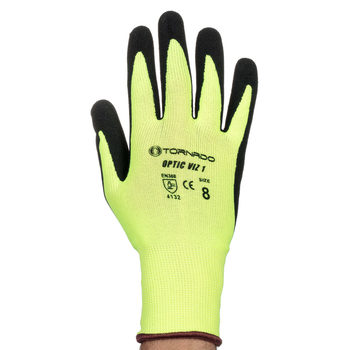 Tornado Optic Hi-Viz Industrial Safety Gloves - 20 Pairs in 3 Sizes
