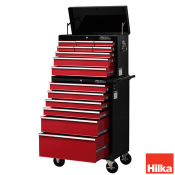 Hilka HD Pro Steel 15-Drawer Combination Tool Chest Trolley