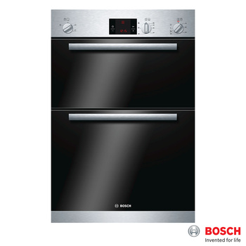 Bosch 106 Litre Integrated Double Oven, HBM13B150B in Stainless Steel