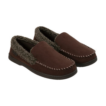 Dearfoam Men's Moccasin Slipper in 2 Colours and 3 Sizes