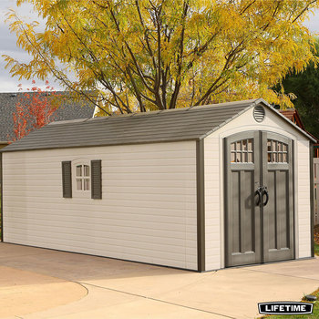 Installed Lifetime 8ft x 20ft (2.4 x 6.1m) Outdoor Storage Shed