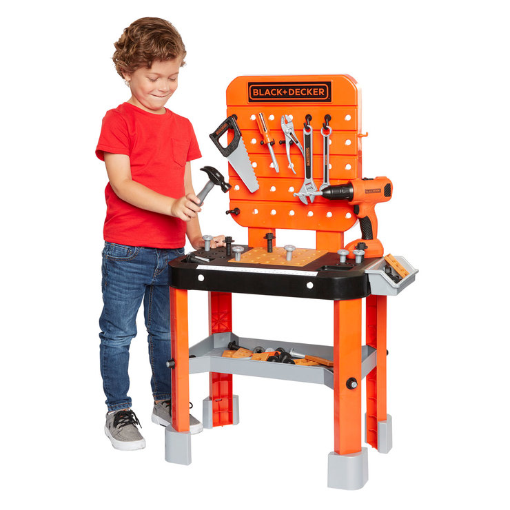 black and decker junior builder workbench + 64 tools and accessories ...
