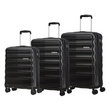 American Tourister Speedlink 3 Piece Hardside Suitcase Set in Black
