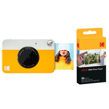 Kodak Printomatic Instant Print Camera with Kodak Zinc Photo Paper (50 Sheets) and Camera Case