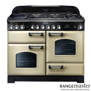 Rangemaster Classic Deluxe 110cm Dual Fuel Range Cooker A Rating in 3 Colours