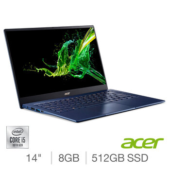 Acer Swift 5, Intel Core i5, 8GB RAM, 512GB SSD, 14 Inch Laptop, NX.HHUEK.003