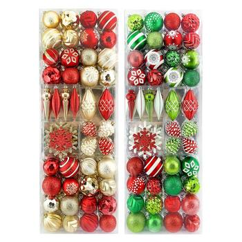 Shatter Resistant 54 Piece Ornament Set - in 2 Colours