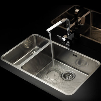 Reginox Ohio 18x40cm + 50x40cm Stainless Steel Sink
