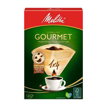 Melitta Gourmet Coffee Filter Papers Size 1x4, 8 x 80 Filters