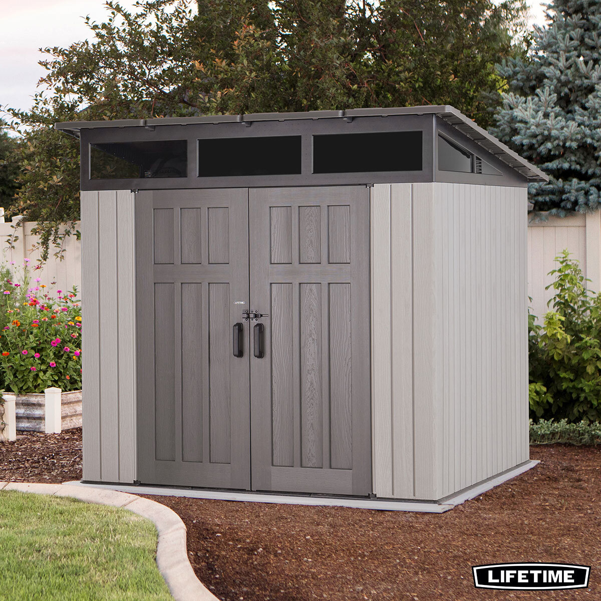 Lifetime 7ft 6 X 7ft 6 2 32 X 2 32m Studio Storage Shed Costco Uk