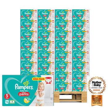 Pampers Baby-Dry Nappy Pants Size 5, 56 x 96 Giga Packs